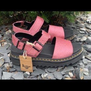 Dr. Martens Pink Voss Glitter Sandals